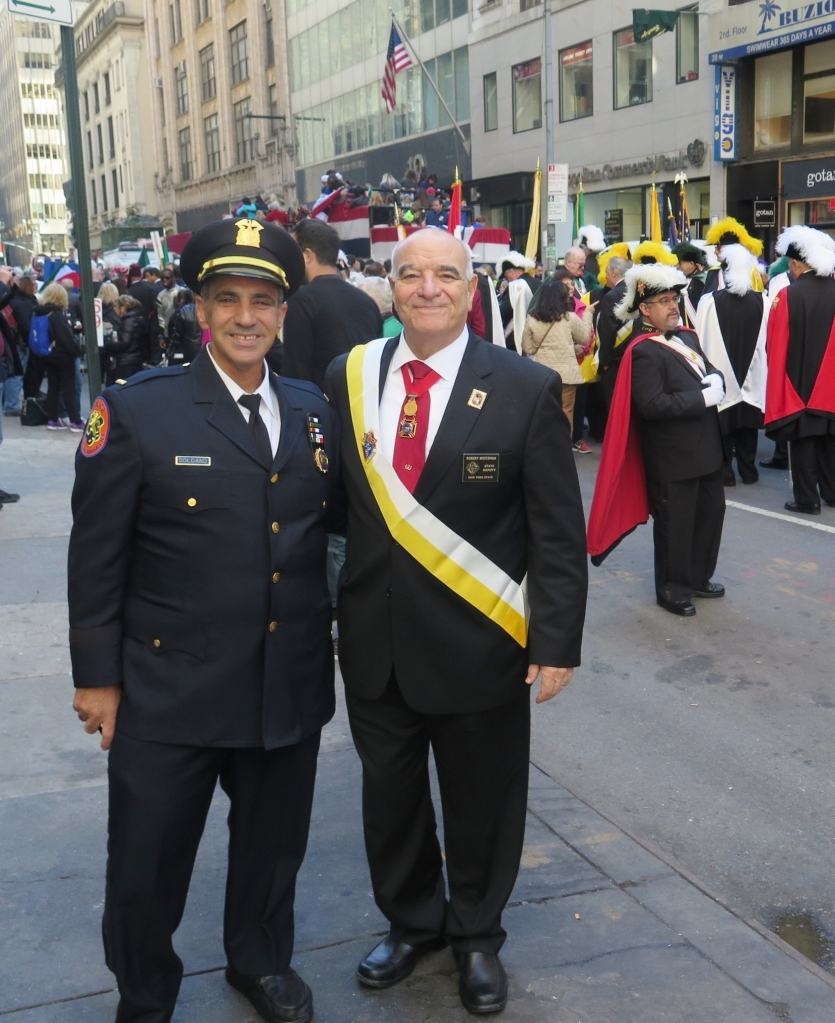 New York City Columbus Day Parade-October 10th, 2016 Staging Area on East 46th Street between 5th & 6th Avenues State Deputy Robert Weitzman with Suffolk Chairman of the Board Carmine Soldano