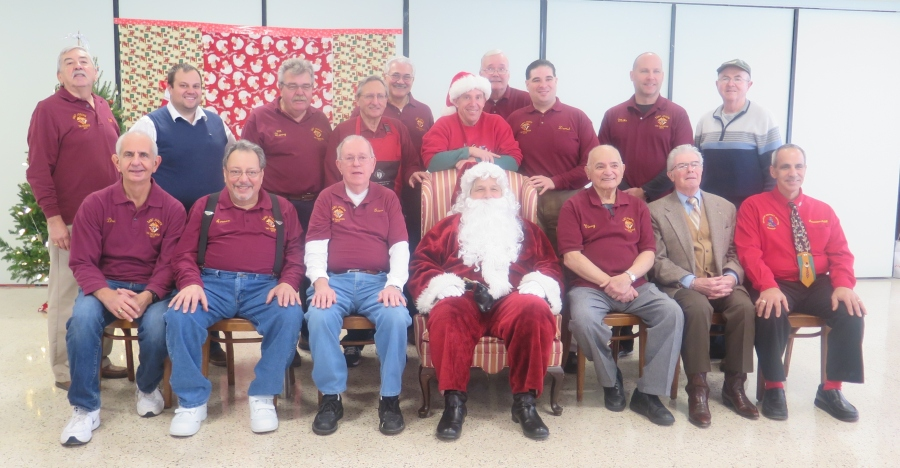 St. Joseph the Carpenter Council N0.14771, Knights of Columbus in Babylon recently held their annual Breakfast with Santa for the Parish of St. Joseph's RC Church in Babylon. The breakfast was held on Sunday, December 11th, 2016 from 10:00am to 12:00noon. The Knights served pancakes and sausage to approximately 175 Guests. St. Nicholas attended and presented the children with gifts for the Christmas season while the reindeer waited patiently outside to get ready for the next stop. Seated Left to Right: Dominick J. Giusto-Grand Knight, Armen Enkababian, Treasurer, Eugene McAdams-Trustee, PGK, St. Nicholas-Santa Claus, Vincent A. Milano-Inside Guard, Lawrence Dell'Erba-Deputy Grand Knight, Carmine E. Soldano-Chairman of the Board of District Deputies. Standing left to Right: Gullermo Jimenez-Chancellor, Matthew Trotto, Daniel M. Tergesen-Trustee, PGK, Vito W. Colletti-Advocate, Richard J. Lauro-Financial Secretary, Christopher J. Loggia-Lecturer, Richard Smith, Darrell J. Clark-Warden, Michael Gaffney, Kevin Crumlish.