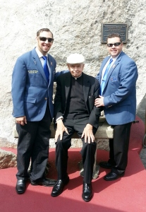Father Robert J. Kayser, Chaplain of Our lady of the Rosary Council since the council's inception 56 years ago went to the Shrine of Our Lady of the Island in Eastport for the Shrine's 40th Anniversary on September 13th, 2015. Daniel P. Calise, Chancellor, and Matthew J. Ostrow, Warden from Our Lady of the Rosary Council brought Father Kayser to the anniversary celebration and took him out to lunch.